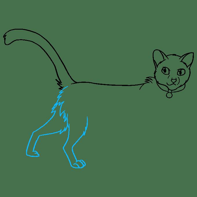 Cách vẽ Firestar từ mèo chiến binh: Bước 7