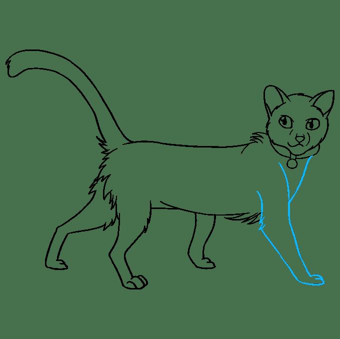 Cách vẽ Firestar từ mèo chiến binh: Bước 9