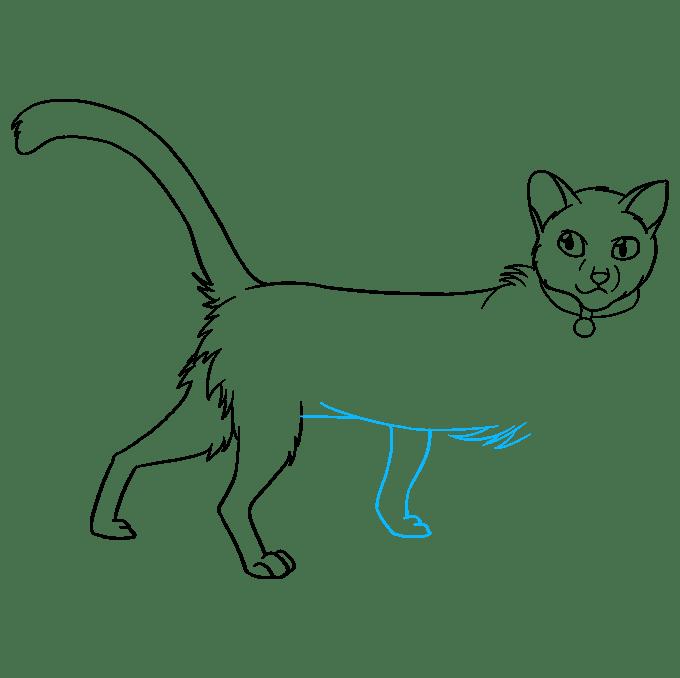 Cách vẽ Firestar từ mèo chiến binh: Bước 8