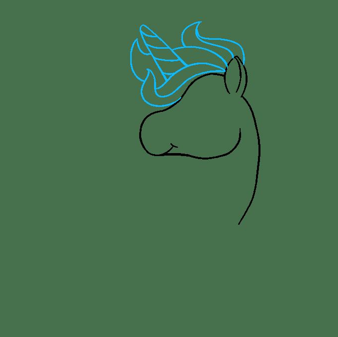 Cách vẽ Chibi Unicorn: Bước 4