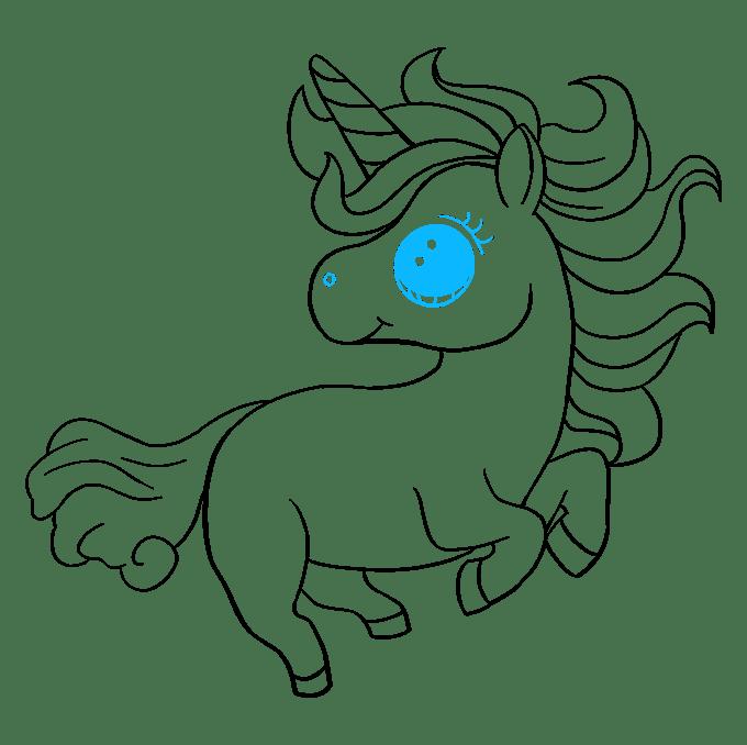 Cách vẽ Chibi Unicorn: Bước 9