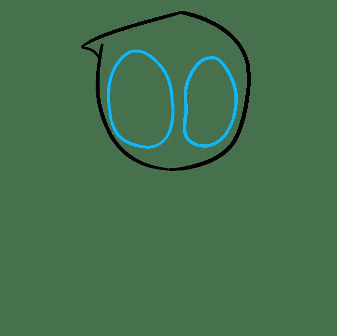 Cách vẽ Chibi Deadpool: Bước 3