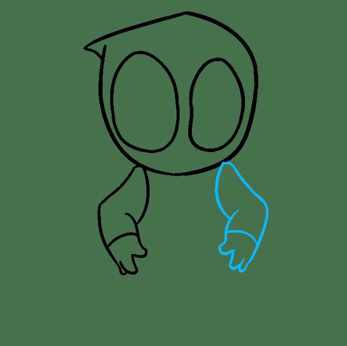 Cách vẽ Chibi Deadpool: Bước 5