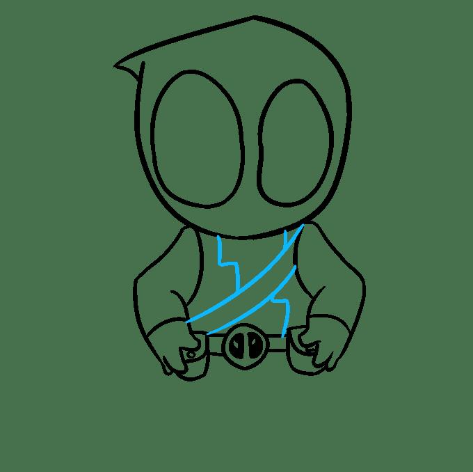 Cách vẽ Chibi Deadpool: Bước 7