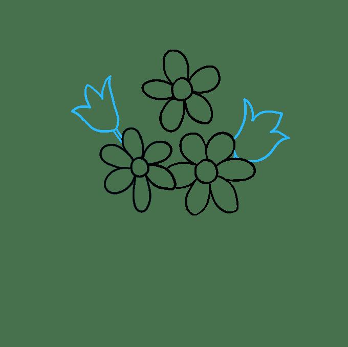 Cách vẽ bó hoa: Bước 4