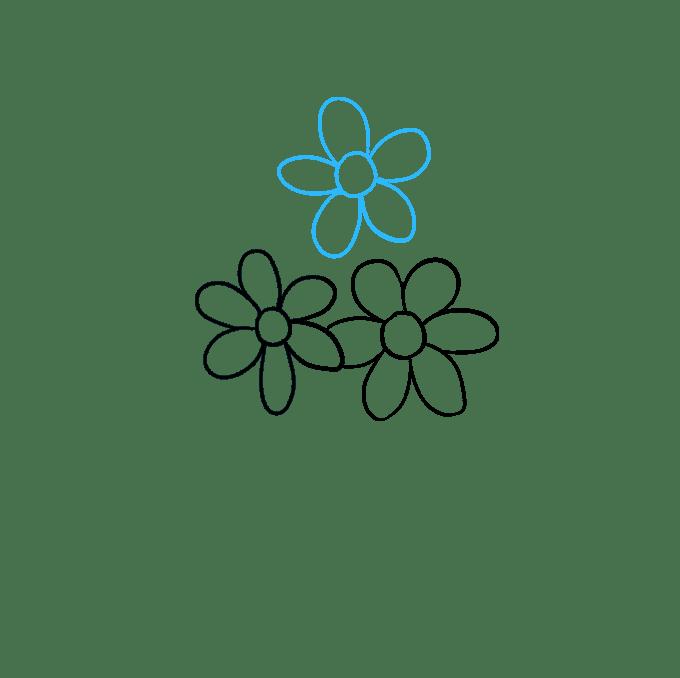 Cách vẽ bó hoa: Bước 3