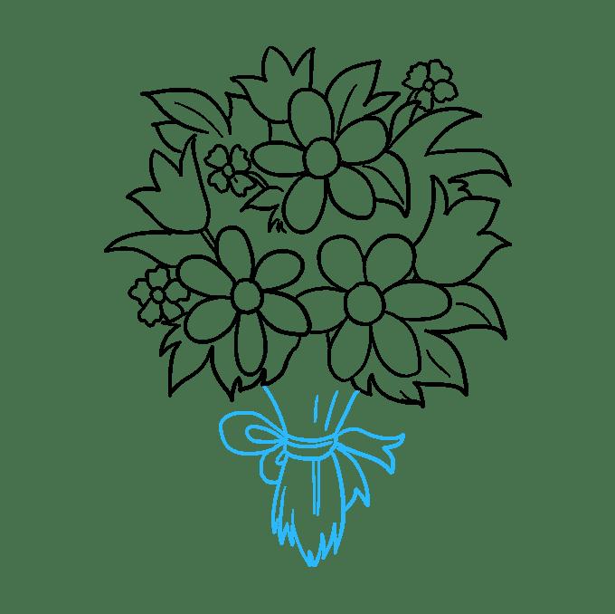 Cách vẽ bó hoa: Bước 9