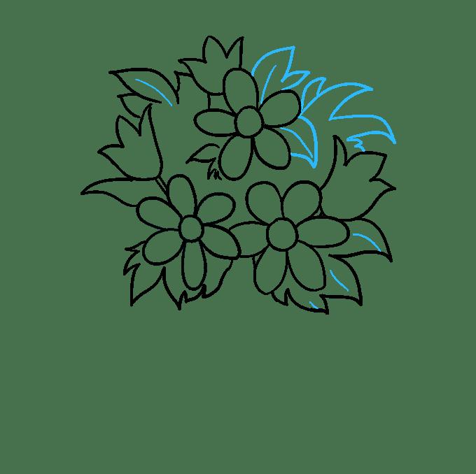 Cách vẽ bó hoa: Bước 7