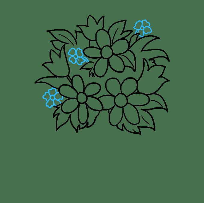 Cách vẽ bó hoa: Bước 8