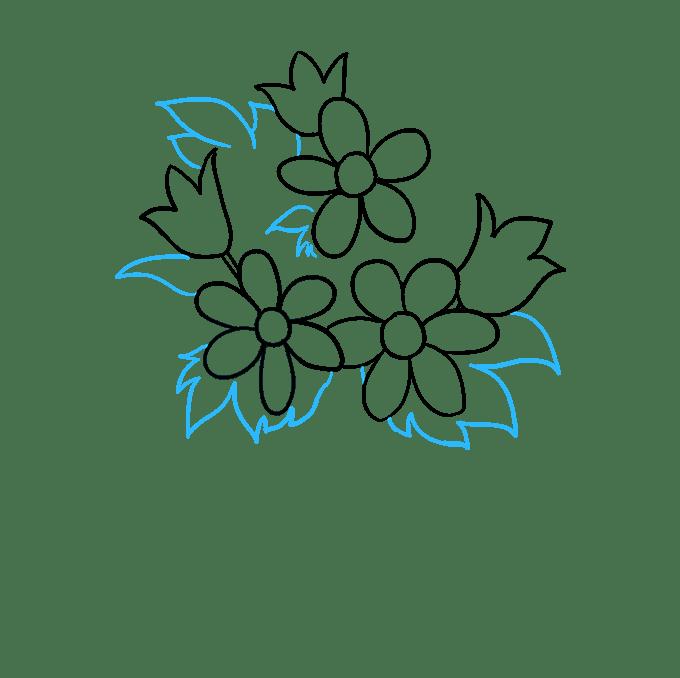 Cách vẽ bó hoa: Bước 6