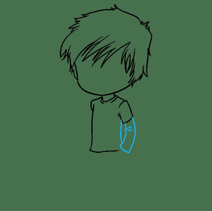 Cách vẽ Chibi Boy: Bước 4