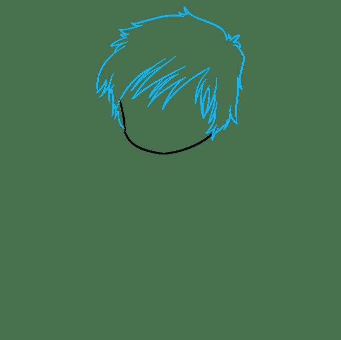 Cách vẽ Chibi Boy: Bước 2