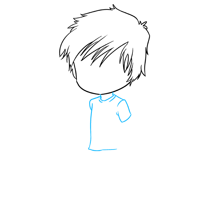 Cách vẽ Chibi Boy: Bước 3