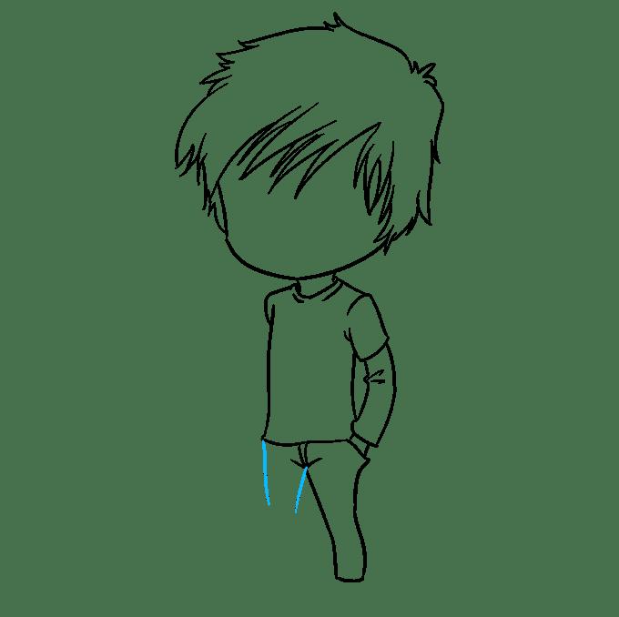 Cách vẽ Chibi Boy: Bước 6