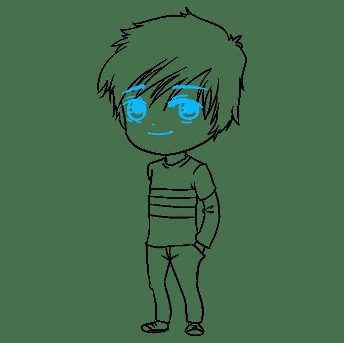 Cách vẽ Chibi Boy: Bước 9