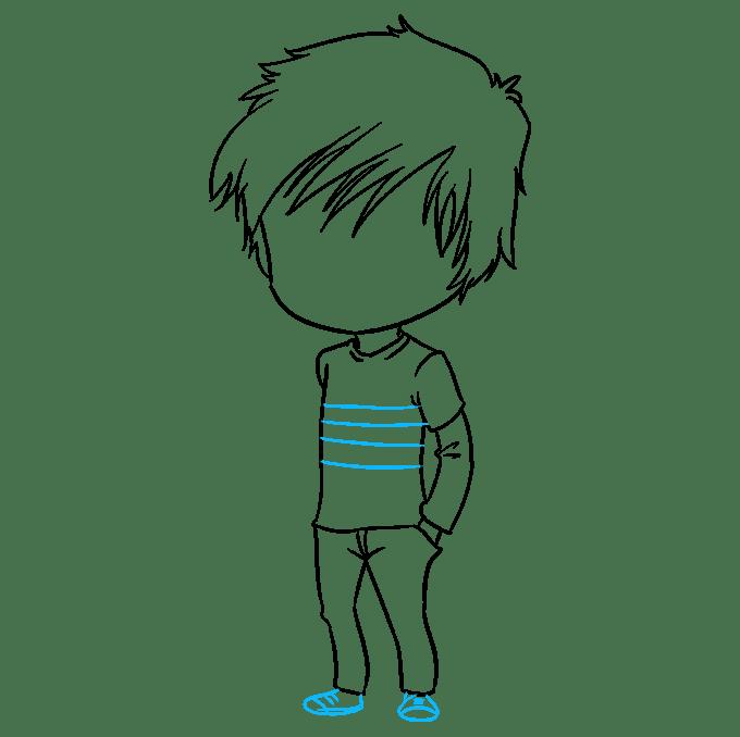 Cách vẽ Chibi Boy: Bước 8