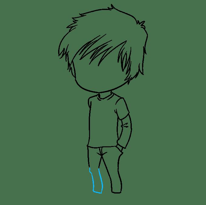 Cách vẽ Chibi Boy: Bước 7