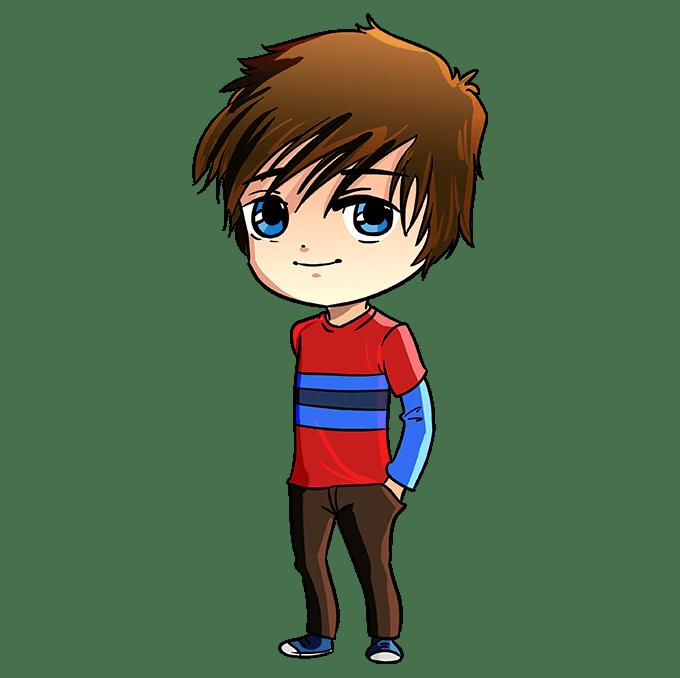 Cách vẽ Chibi Boy: Bước 10
