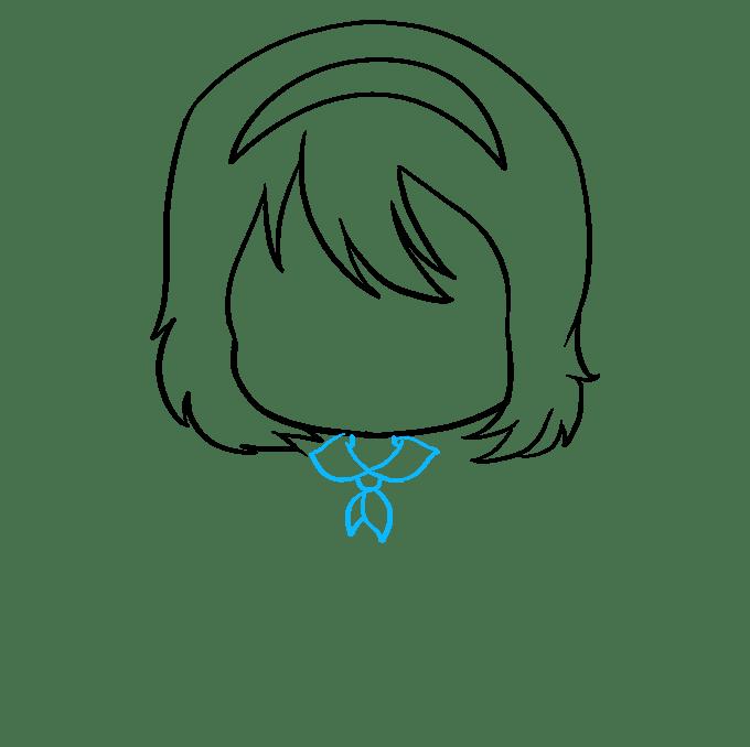 Cách vẽ Anime Chibi Girl: Bước 5
