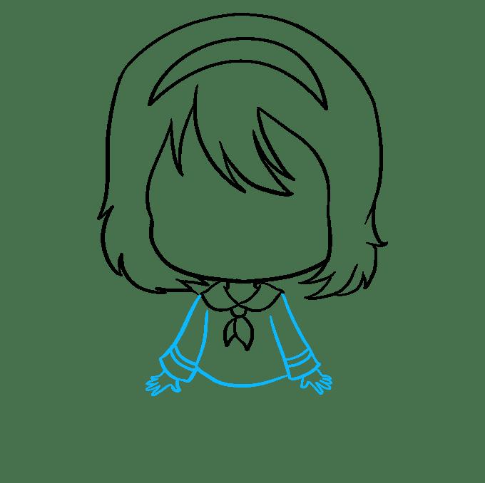 Cách vẽ Anime Chibi Girl: Bước 6