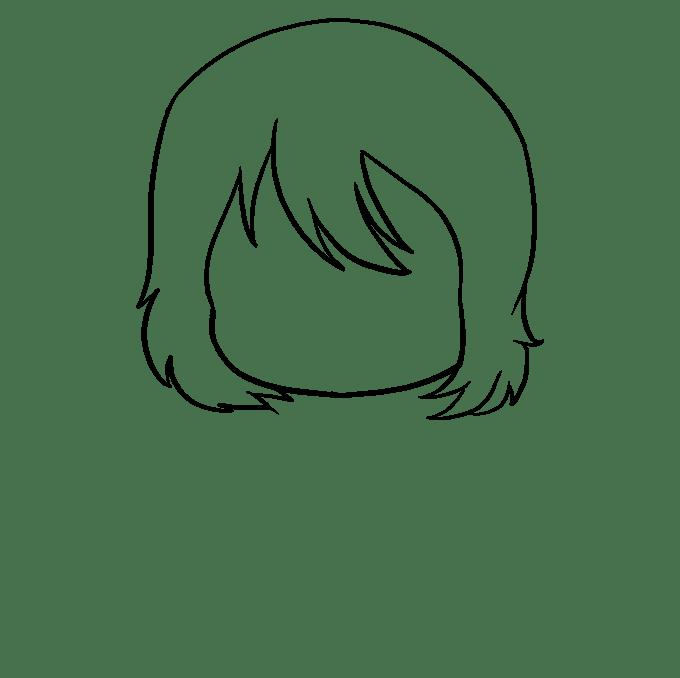 Cách vẽ Anime Chibi Girl: Bước 3