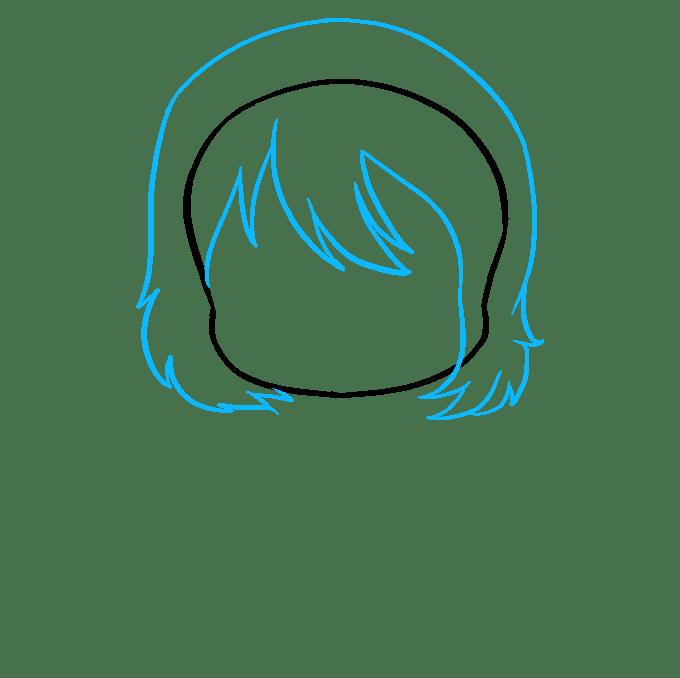Cách vẽ Anime Chibi Girl: Bước 2