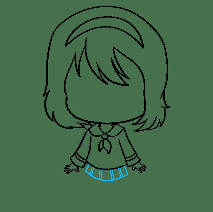 Cách vẽ Anime Chibi Girl: Bước 7