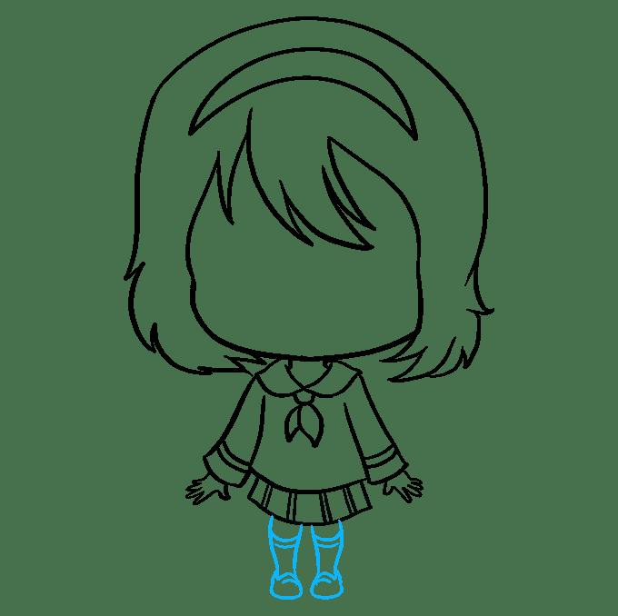Cách vẽ Anime Chibi Girl: Bước 8