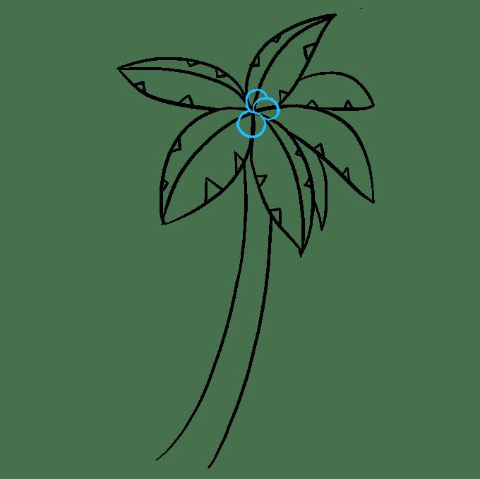 Cách vẽ cây cọ: Bước 7