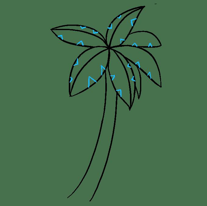 Cách vẽ cây cọ: Bước 6