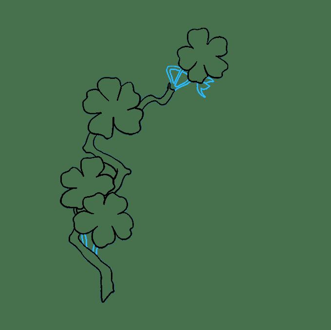 Cách vẽ hoa anh đào: Bước 7