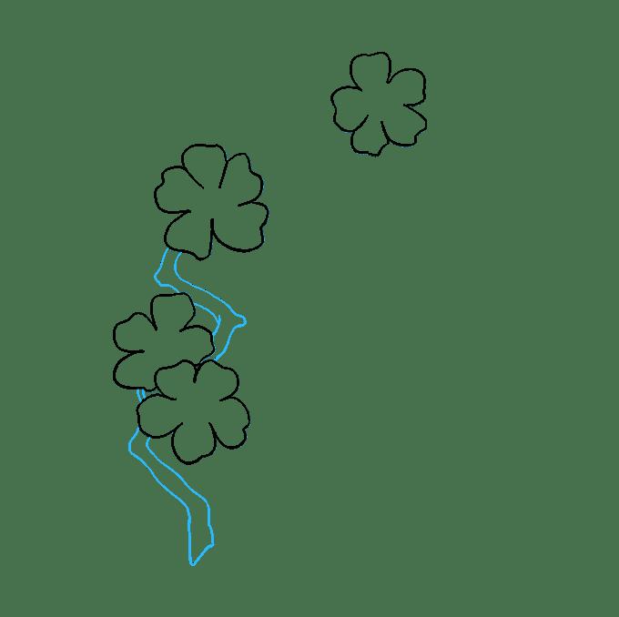 Cách vẽ hoa anh đào: Bước 5