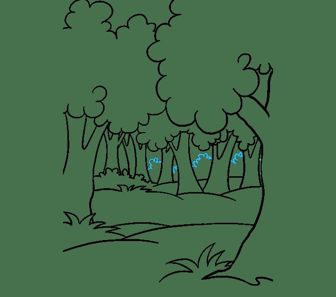 Cách vẽ rừng phim hoạt hình: Bước 17