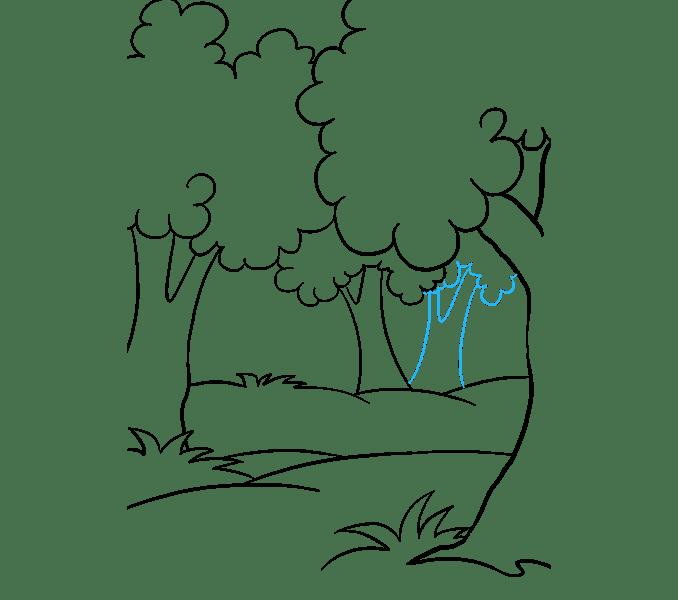 Cách vẽ rừng phim hoạt hình: Bước 12