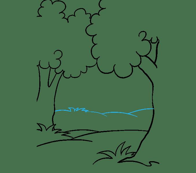 Cách vẽ rừng phim hoạt hình: Bước 9