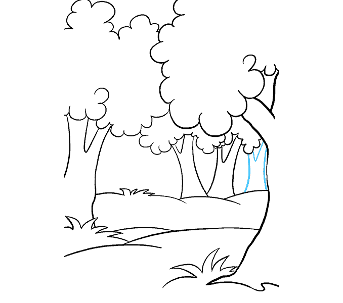 Cách vẽ rừng phim hoạt hình: Bước 13