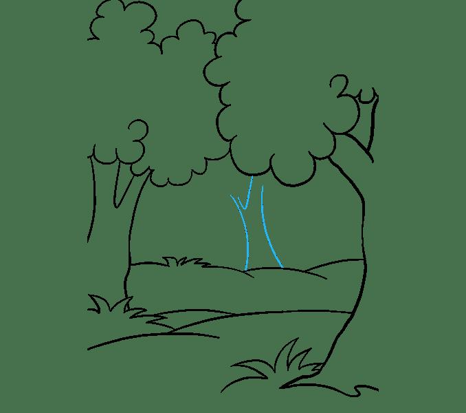 Cách vẽ rừng phim hoạt hình: Bước 10