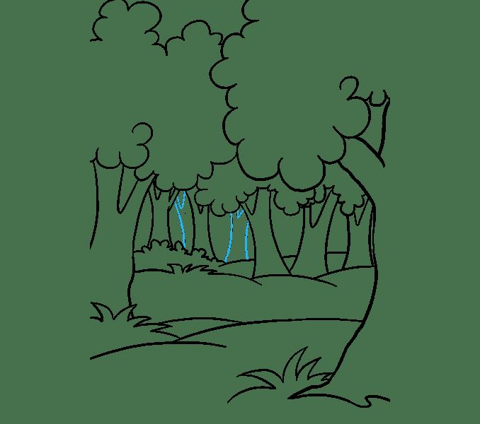 Cách vẽ rừng phim hoạt hình: Bước 16
