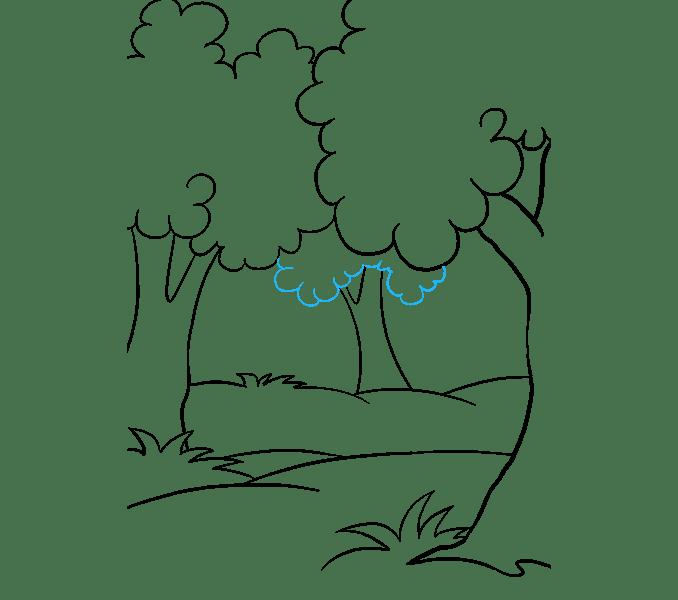 Cách vẽ rừng phim hoạt hình: Bước 11