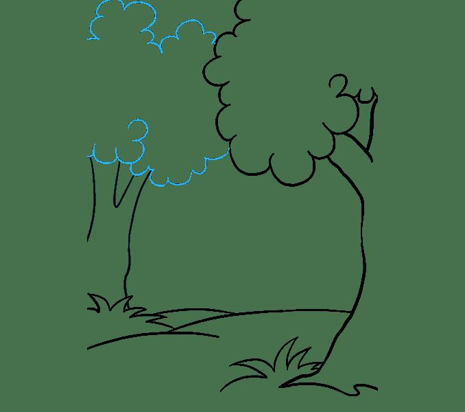 Cách vẽ rừng phim hoạt hình: Bước 8