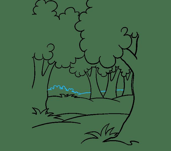 Cách vẽ rừng phim hoạt hình: Bước 14