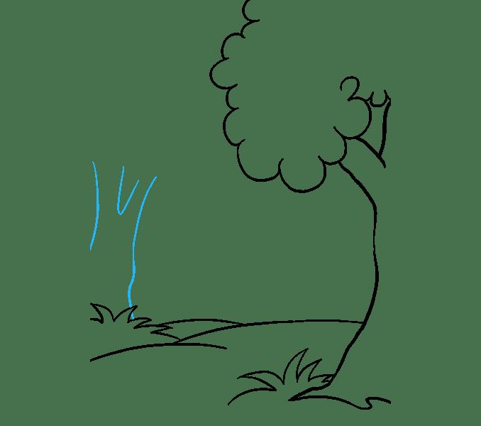 Cách vẽ rừng phim hoạt hình: Bước 7