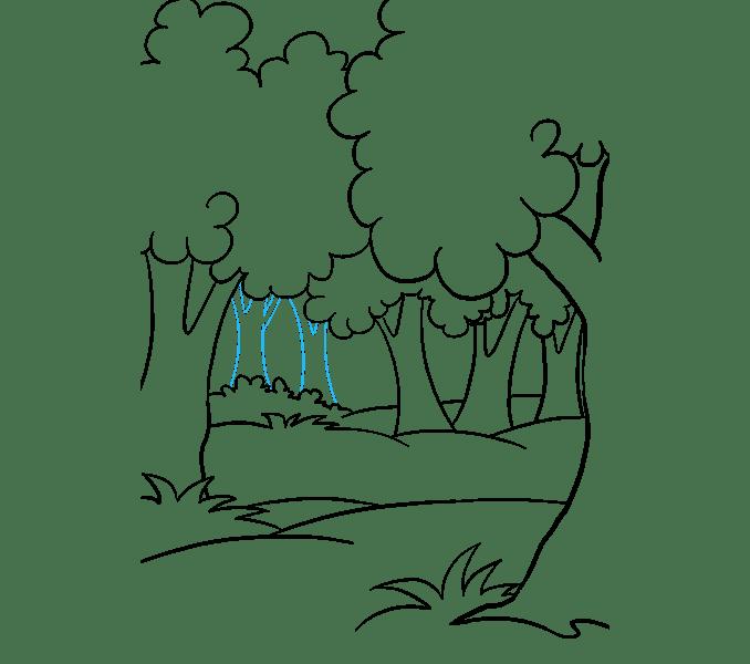 Cách vẽ rừng phim hoạt hình: Bước 15