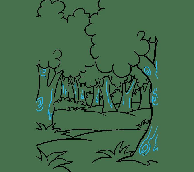 Cách vẽ rừng phim hoạt hình: Bước 19