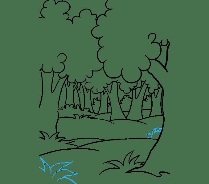 Cách vẽ rừng phim hoạt hình: Bước 18