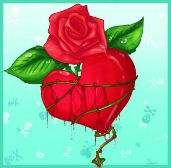 Hướng dẫn vẽ: Cách vẽ trái tim có gai với hoa hồng