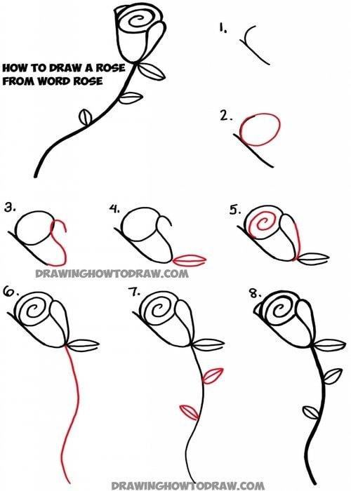 Hướng dẫn vẽ: Cách vẽ hoa hồng bằng cách sử dụng Word R-O-S-E phạm