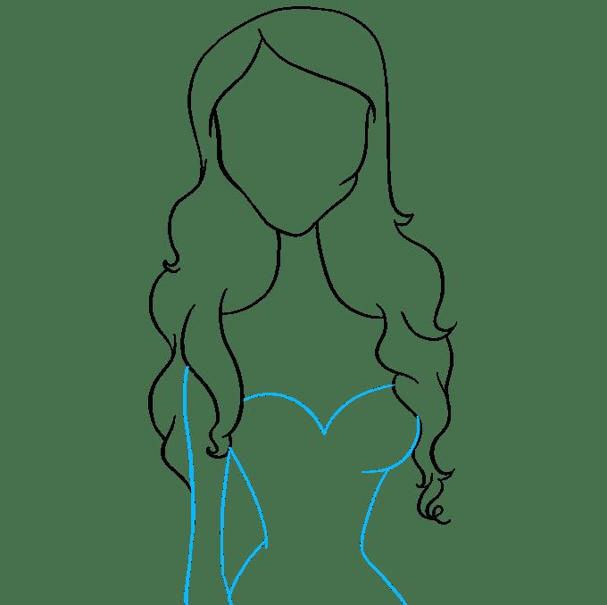 Cách vẽ cô dâu Corpse: Bước 6