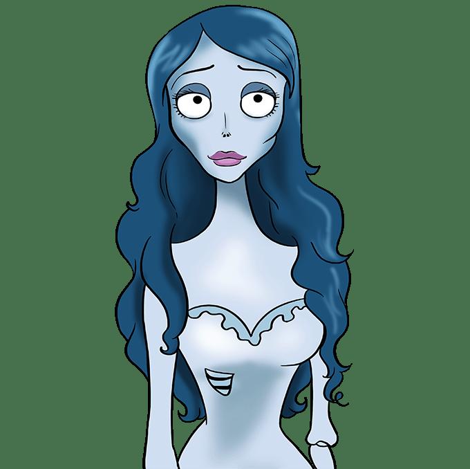 Cách vẽ cô dâu Corpse: Bước 10