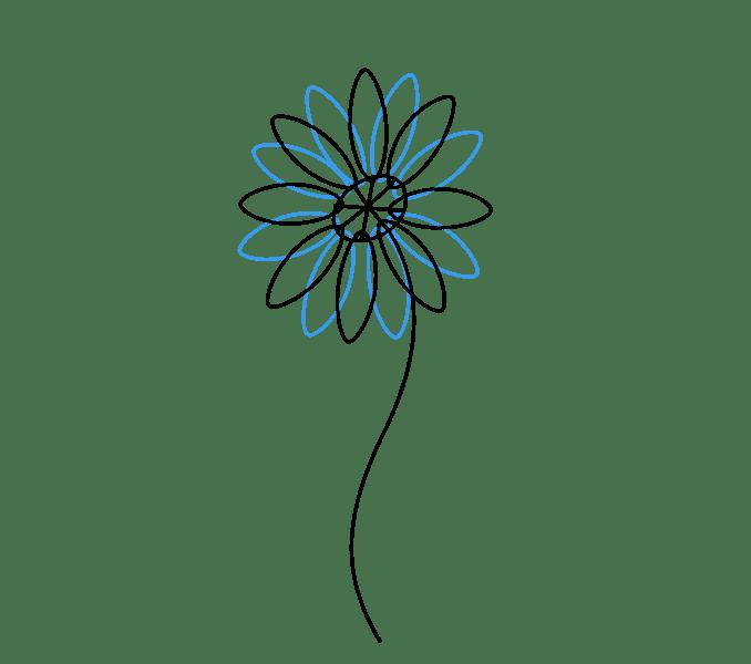 Cách vẽ hoa cúc: Bước 4
